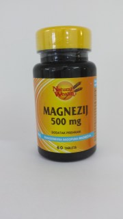 Natural Wealth Magnezij 500 mg 60 tbl.