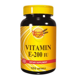 Natural Wealth Vitamin E 200 I.J. 100 caps.