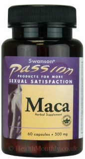 Swanson Passion Maca 500 mg 60 caps.