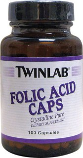 Twinlab Folic Acid 100 caps.